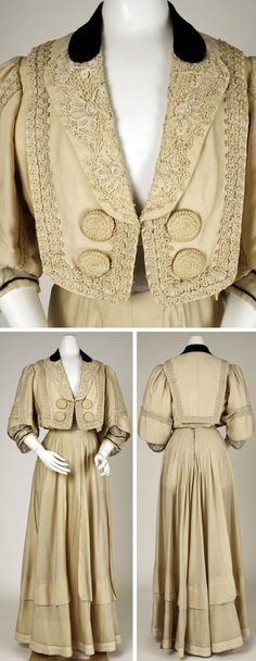 Suit, Raudnitz and Co.-Huet and Chéruit, 1905. Wool, silk, cotton. Metropolitan Museum of Art