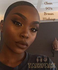 Make Up. Contour For Dark Skin, Dark Skin Makeup, Brown Makeup, Soft Makeup, 90s Makeup, Makeup Tips, Bambi Makeup, Makeup Inspo, Makeup Ideas
