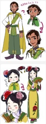 Prince Zandar and Princess Jun of Wei-Ling older Sofia the First
