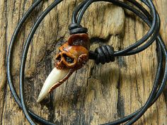 Mohawk Tribal Skull Tooth Warrior Pendant by tribe7 on Etsy, $25.00