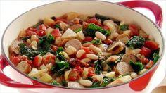 Substitute Field Roast Italian Sausage and Better Than Bullion No Chicken Broth to make it vegan!