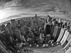 "New York ""Fisheyed"" by Sebastian Milczanowski"