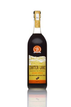 Crater Lake Hazelnut Espresso Infused Vodka. This is the perfect holiday gift! Get yours at Bendistillery @craterlakespirits @bendistillery  Bottles printed and frosted by Universal Packaging.