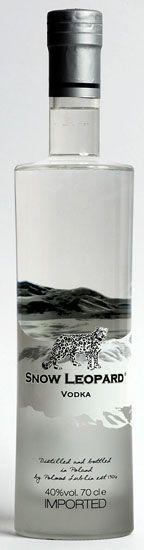 SNOW LEOPARD VODKA  40% 100cl www.wijn-sterkedranken.be