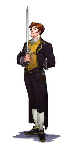 Male Human Swashbuckler Noble - Pathfinder PFRPG DND D&D 3.5 5th ed d20 fantasy