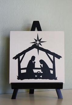Nativity silohuette