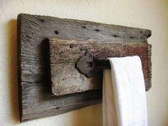 Barn Wood Crafts Ideas | Idée pour retailles de bois de grande: porte serviette