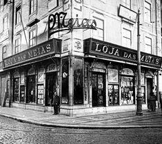 Loja das Meias (Rua Augusta/Praça D. Pedro IV), 1917