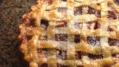 Whole cranberry sauce and brown sugar, combined with nutmeg and cinnamon, go into this great holiday apple pie.