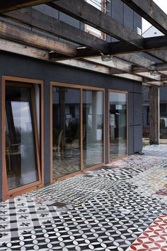 Terrace. Tiles: Purpura. #cementtiles