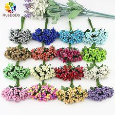 12pcs Artificial Stamen flower bouquet for Wedding Box Scrapbooking Decoration DIY wreaths crafts Flowers
