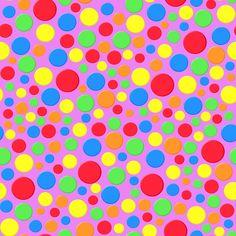 Stoffdesign:Bunte Punkte auf alt-rose Hintergrund