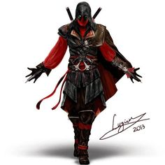 Deadpool x Assassin's Creed... I just... Don't know how to feel about this…