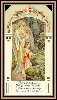 """O Guardian Angel, fly in my stead to those who are dear to me; dry their tears; tell them of the goodness of Jesus and of the benefit of suffering, and O so softly, murmur my name."" St. Therese of Lisieux"