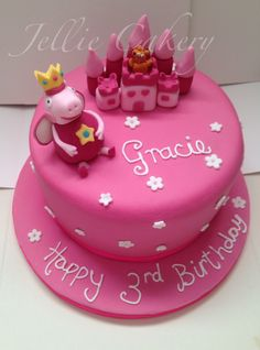 Princess peppa pig cake