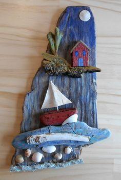Driftwood Assemblage от MaineFolkArt на Etsy