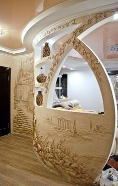Quirky Home Decor To Copy Right Now What is Decoration? Decoration may be the art of decorating the inside … Quirky Home Decor, Eclectic Decor, Mural Art, Wall Murals, Wall Art, Cheap Side Tables, Plafond Design, Plaster Art, Interior Design Boards