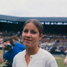 American tennis player Chris Evert at her semifinal match against Evonne Goolagong at The Championships Wimbledon London Goolagong won the. Glenn Close Fatal Attraction, Tracy Austin, American Tennis Players, Monica Seles, Kim Clijsters, Jimmy Connors, Wimbledon London, Tennis Legends, Cheryl Ladd