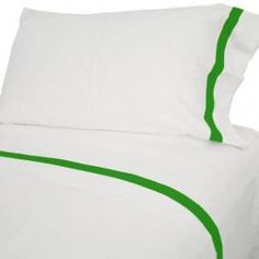 Green Border Sheets  // Biscuit Home