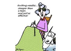 Knitting Needles -- cheaper than a Taser & just as effective!