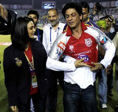 Embedded image permalink-KKR vs KXIP: SRK and Preity Zinta are likely to come to cuttack with their teams.