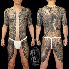 Tattoodo - Japanese Bodysuit Tattoo by Diao Zuo - Traditional Japanese Tattoo Meanings, Japanese Tattoo Symbols, Japanese Dragon Tattoos, Japanese Tattoo Designs, Japanese Tattoo Art, Japanese Sleeve Tattoos, Traditional Tattoo, Full Back Tattoos, Full Body Tattoo