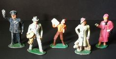 Antique BARCLAY MANOIL Lead Toy Working People Figurines~RARE! Set of 5   #ManoilBarclay