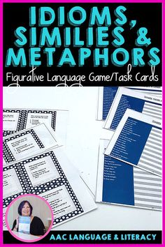 Students practice figurative language forms idioms, similes and metaphors with these task cards. Use with late elementary students. Third, fourth, fifth grade. Multiple formats.