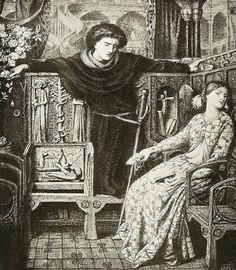 Hamlet And Ophelia Drawing by Dante Gabriel Rossetti.
