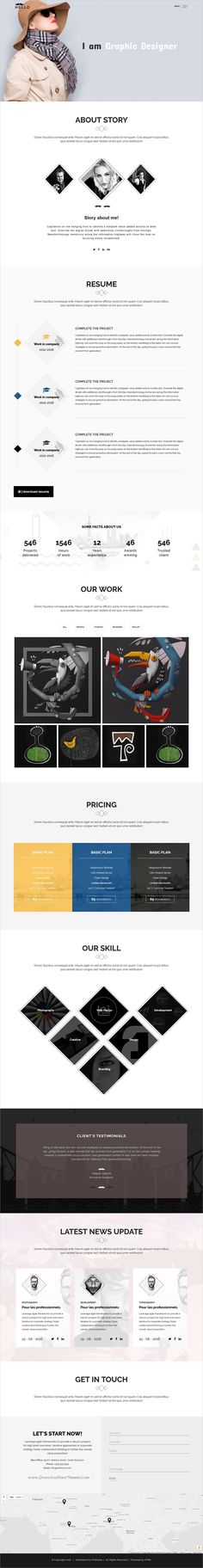 Cool Crystal  Inventive Resume Cv And Portfolio Html Template