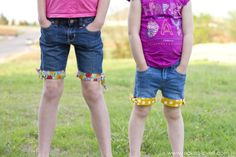Upcycled Cut-off Jean Shorts