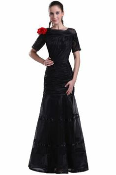 cocktail dresses short wedding dresses bridesmaid dresses long chiffon  fantasy mermaid shoulders square collar floor length organza black party  dress with ... 6dc15b5f5336