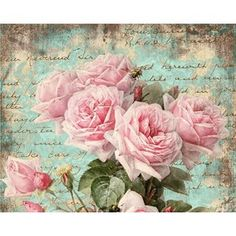 Inspiration - Polyvore  Shabby Roses Pink Greeting Cards Digital Collage Sheet best for paper craft, jewelry holders,