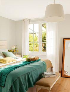 House of Turquoise: Cristina Mateus Bedroom Turquoise, House Of Turquoise, Turquoise Accents, Aqua, Dream Bedroom, Home Bedroom, Bedroom Decor, Bedroom Color Schemes, Home Decor Kitchen