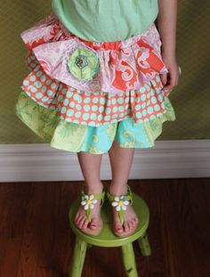 Cupcake skirt Amy Butler Love fabric by sleepyowlboutique on Etsy, $35.00
