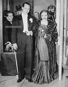 1936, Joan Crawford with husband Franchot Tone.