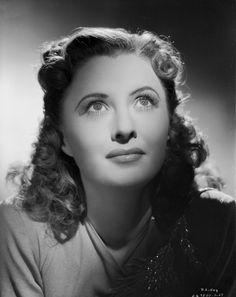 Barbara Stanwyck Classic Close-up Portrait Premium Art Print