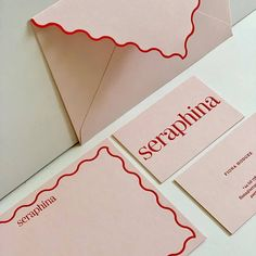Scalloped edged stationery on Extract Shell for by and Web Design, Logo Design, Graphic Design Typography, Design Art, Print Design, Cover Design, Identity Design, Design Brochure, Stationery Design