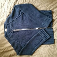 J Crew knit sweater Very heavy and warm. Zips from both ends. J. Crew Sweaters Crew & Scoop Necks