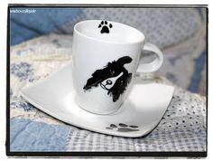 espresso cup with border collie