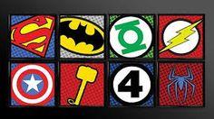 PRINTABLE Superhero Kids Wall Art Decor Nursery Playroom Superman Batman Robin Comic Book Superheroes Set of 8 Custom Sizes logo logos. I'll let my kids decide if they will like DC or Marvel Superhero Gifts, Superhero Room, Superhero Party, Art Wall Kids, Wall Art Decor, Robin Comics, Batman Robin, Avengers Room, Batman Bedroom