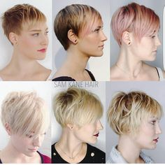 """1,795 Likes, 29 Comments - Short Hairstyles   Pixie Cut (@nothingbutpixies) on Instagram: """"The growing out of a pixie cut by stylist @samkanehair of @shagboston on @___negativecreep"""""""