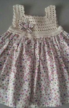 Frock Patterns Baby Patterns Crochet Patterns Crochet Dress Girl Knit Dress Crochet For Kids Crochet Baby Heirloom Sewing Baby Dress Crochet Dress Girl, Crochet Girls, Crochet Baby Clothes, Crochet For Kids, Crochet Yoke, Crochet Fabric, Cotton Crochet, Baby Tulle Dress, Diy Dress