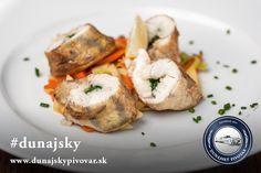 Rolky zo zubáča plnené špenátom, parená zelenina #dunajsky