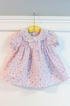6 months Smocked Dress and Bloomers Set Vintage Baby by Petitpoesy, $10.00 www.etsy.com/shop/petitpoesy