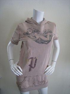 Steampunk Victorian Hoodie Topshop Cherub Sweatshirt Tan Small NWT #Pathway #Hoodie