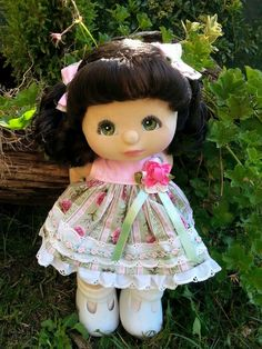 Ivy - my child doll bru ringlet pony with green eyes and charcoal/pink make up