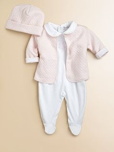 Kissy Kissy - Infant's Three-Piece Footie, Cardigan & Hat Set - Saks.com