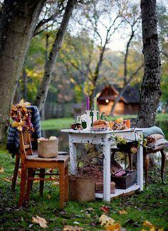 Comer aquí bien abrigadita en compañía del galán, ¿qué romántico, no?
