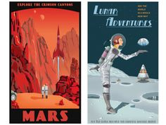 The Intergalactic Travel Bureau Tour - Where Virgin Galactic and Space X meet the Jetsons and Mad Men.